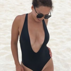 Other - Black Spandex Swimsuit